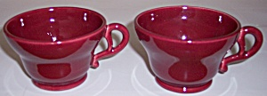 FRANCISCAN POTTERY EL PATIO MAROON PAIR CUPS! (Image1)