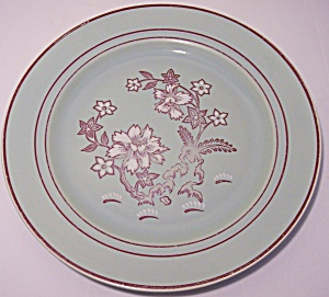 Franciscan Pottery Tiger Flower Dinner Plate
