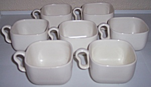 Franciscan Pottery Metropolitan Ivory Set/7 Cups