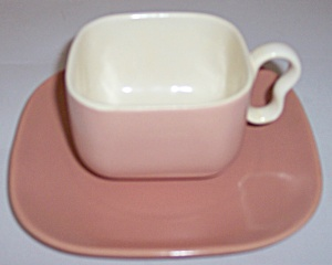Franciscan Pottery Metropolitan Coral Duo Cup/saucer