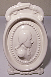 PACIFIC POTTERY SATIN WHITE CAMEO VASE! (Image1)