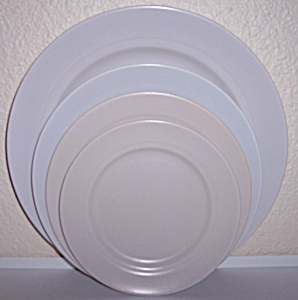 FRANCISCAN POTTERY MONTECITO SATIN GREY DESSERT PLATE! (Image1)