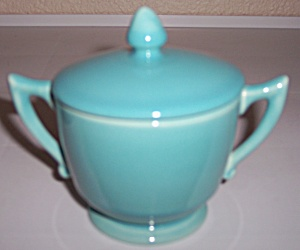 Franciscan Pottery Montecito Glacial Blue Ind Sugar/lid