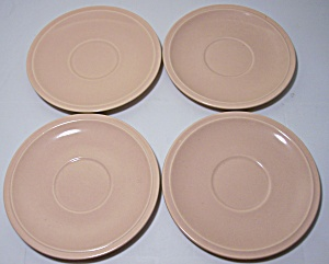 Franciscan Pottery Montecito Satin Coral Set/4 Saucers