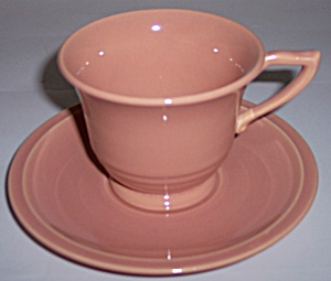 Franciscan Pottery Montecito Gloss Coral Cup/saucer Set