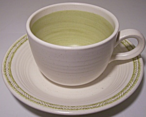 Franciscan Pottery Hacienda Green Cup/saucer Set