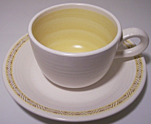 Franciscan Pottery Hacienda Gold Cup/saucer Set