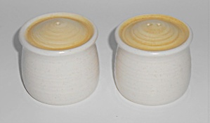 Franciscan Pottery Hacienda Gold Salt/pepper Shaker Set