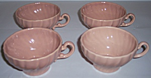 Franciscan Pottery Coronado Satin Coral Set/4 Cups