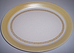 FRANCISCAN POTTERY HACIENDA GOLD LARGE PLATTER! (Image1)