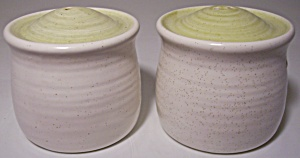 Franciscan Pottery Hacienda Green Salt/Pepper Shakers! (Image1)
