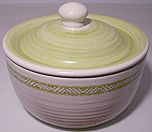 Franciscan Pottery Hacienda Green Sugar Bowl W/lid