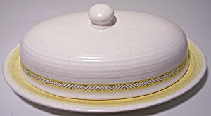 Franciscan Pottery Hacienda Gold Butter Dish W/lid