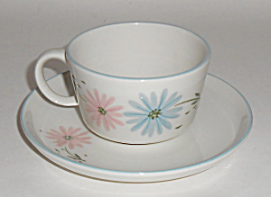 Franciscan Pottery Maytime Cup & Saucer Set Mint