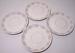 Franciscan Pottery Merry-Go-Round Set/4 Saucers (Image1)