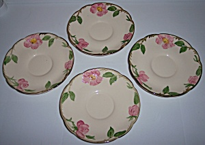Franciscan Pottery Desert Rose U.s.a. Set/4 Saucers