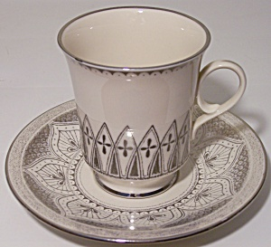 Franciscan Pottery Fine China Minaret Cup/saucer Set