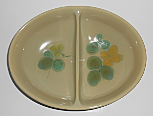 Franciscan Pottery Pebble Beach Divided Vegetable Bowl