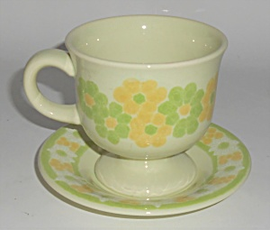 Franciscan Pottery Picnic Cup & Saucer Set Mint