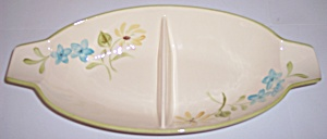 Franciscan Pottery Daisy Divided Vegetable Bowl