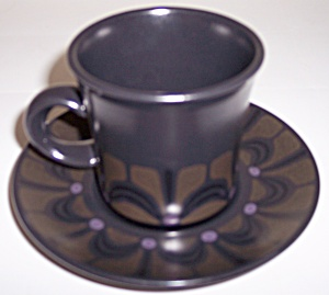 Franciscan Pottery Zanzibar Cup And Saucer Set