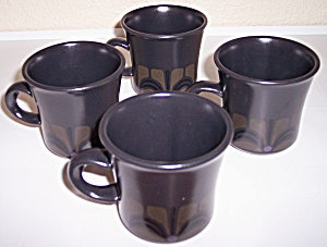 Franciscan Pottery Zanzibar Set/4 Cups Mint