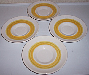 Franciscan Pottery Sundance Set/4 Saucers