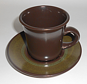 Franciscan Pottery Madeira Cup/saucer Set Mint