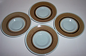 Franciscan Pottery Nut Tree Set/4 Saucers