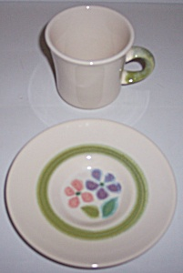 Franciscan Pottery Floral U.s.a Cup/saucer Set