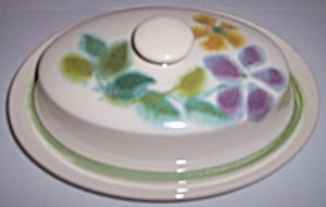 Franciscan Pottery Floral Butter Dish W/lid