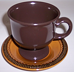 Franciscan Pottery Creole Cup & Saucer Set