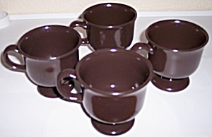 FRANCISCAN POTTERY CREOLE SET/4 CUPS! (Image1)