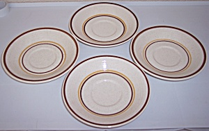 Franciscan Pottery Toffee Set/4 Saucers
