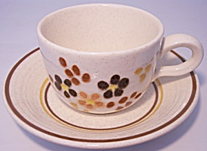 Franciscan Pottery Toffee Cup & Saucer Set Mint