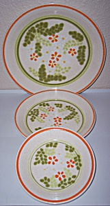 Franciscan Pottery Papaya Dinner Plate