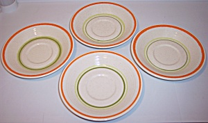 Franciscan Pottery Papaya Set/4 Saucers