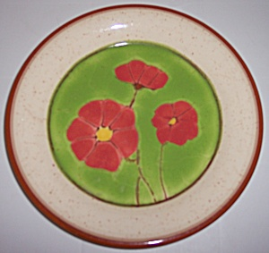 Franciscan Pottery Pepper Poppy Salad Plate