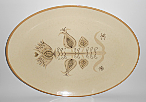 FRANCISCAN POTTERY SPICE VERY RARE LARGE PLATTER! (Image1)