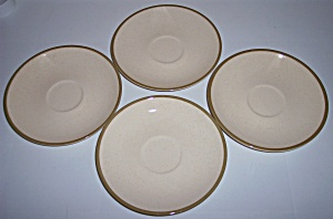 Franciscan Pottery Spice Set/4 Saucers (Image1)