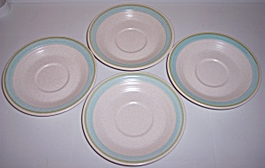 Franciscan Pottery Tulip Time Set/4 Saucers (Image1)
