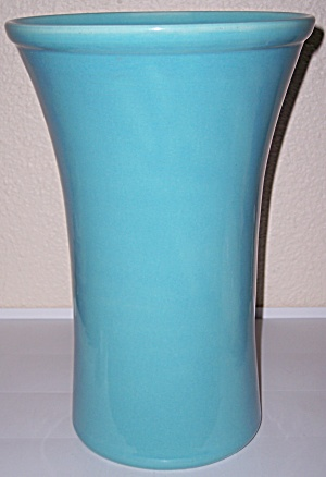 BAUER POTTERY FRED JOHNSON TURQUOISE HUGE VASE! (Image1)