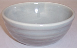 BAUER POTTERY RING WARE GREY CEREAL BOWL! (Image1)