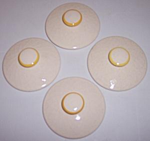 FRANCISCAN POTTERY GOLDEN WEAVE SET/4 SUGAR BOWL LIDS! (Image1)