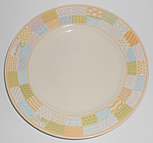 FRANCISCAN POTTERY AMERICANA STARS/STRIPES DINNER PLATE (Image1)