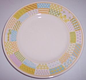 FRANCISCAN POTTERY AMERICANA STARS/STRIPES SALAD PLATE! (Image1)