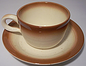 FRANCISCAN POTTERY  COUNTRY CRAFT RUSSET CUP/SAUCER! (Image1)