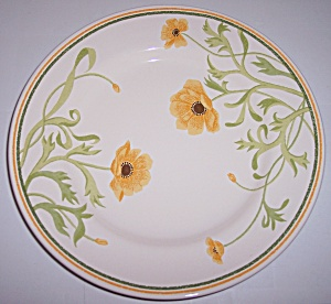 Franciscan Pottery Greenhouse Poppy Salad Plate