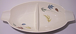 FRANCISCAN POTTERY AUTUMN DIVIDED VEGETABLE BOWL! (Image1)