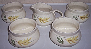 FRANCISCAN POTTERY AUTUMN 4 SUGARS/1 CREAMER SET! (Image1)